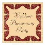 Wedding Anniversary 5.25x5.25 Square Paper Invitation Card
