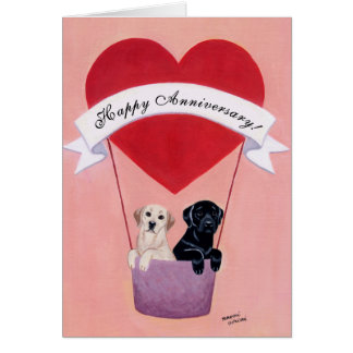 Wedding Anniversary Labradors Card
