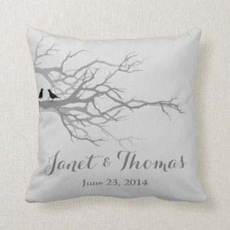 Wedding anniversary love birds cushion