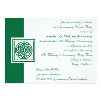 Wedding Anniversary Party Celtic Knot Color Select Card