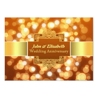 wedding anniversary party golden invitation