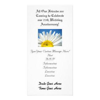 Wedding Anniversary! Party Invitations White Daisy