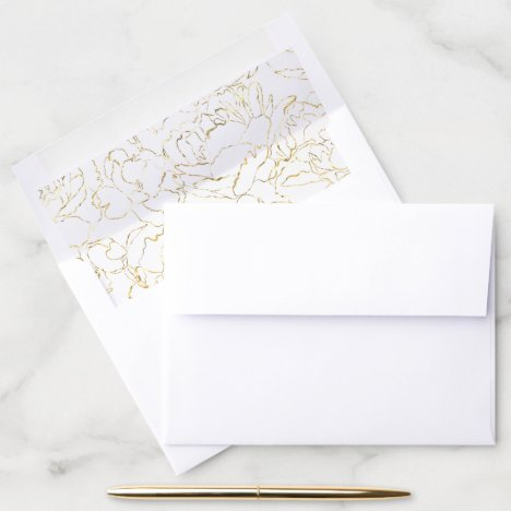 Wedding Anniversary Party Return Address Envelope Liner
