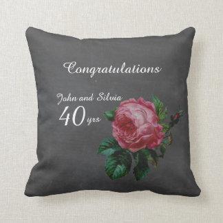 Wedding Anniversary Personalized chalkboard Throw Pillow