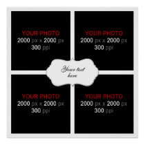 Wedding Anniversary Photo Collage 4 Photos Poster