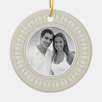 Wedding Anniversary Photo Frame Ceramic Ornament