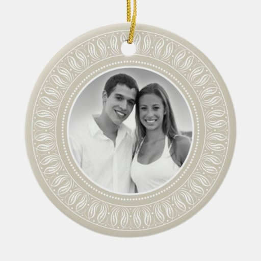 Wedding anniversary photo frame christmas tree ornaments for Engagement christmas tree ornaments