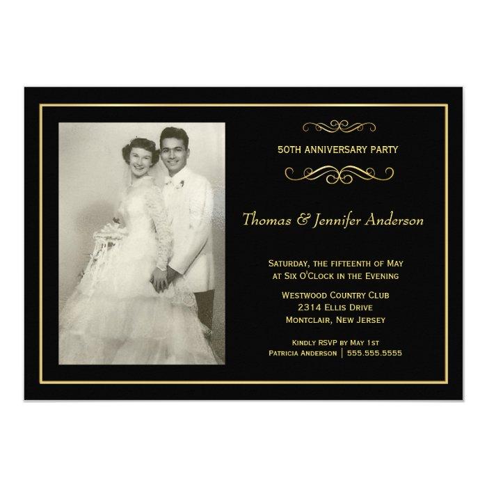 Wedding anniversary photo invitations th zazzle