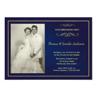 Wedding Anniversary Photo Invitations - 60th, 50th