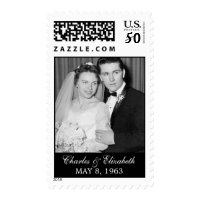 Wedding Anniversary Photo Postage