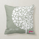 "Wedding Anniversary pillow tree love birds<br><div class=""desc"">Wedding Anniversary pillow</div>"