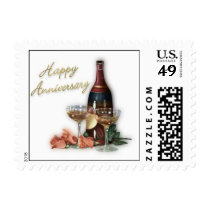Wedding Anniversary Postage Stamp
