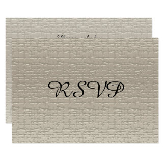 Wedding Anniversary RSVP Cards, White-Gold Card