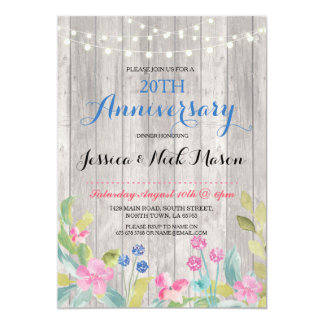 Wedding Anniversary Rustic Party Invitation
