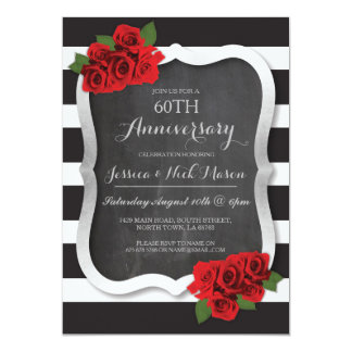 Wedding Anniversary Silver Diamond 60th 25 Invite