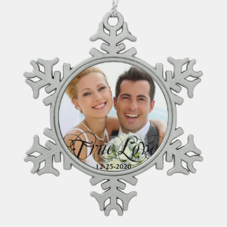 Wedding Anniversary True Love Christmas Ornament