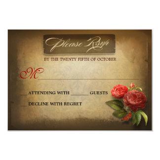 Wedding Anniversary vintage shabby RSVP cards