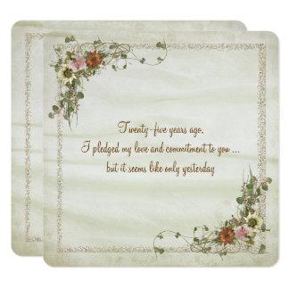 Wedding Anniversary Vow Renewal Card