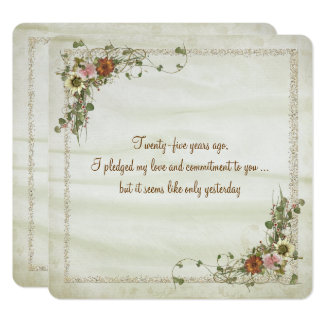 Wedding Anniversary Vow Renewal Invitation