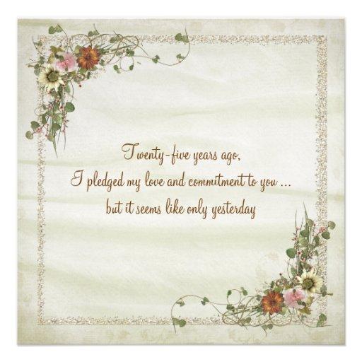 Wedding Anniversary Vow Renewal Custom Announcements