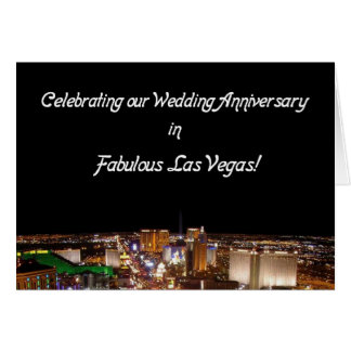 Wedding Anniversay in Vegas Card