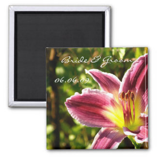 Wedding Announcement Daylily Magnet