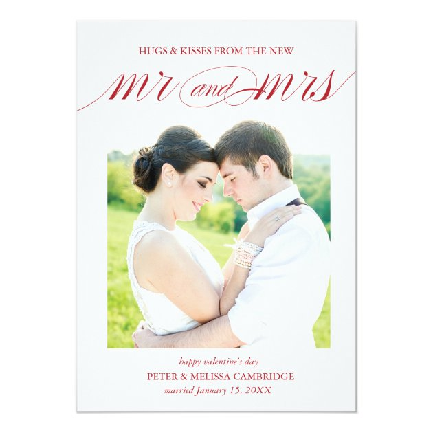 Wedding Announcement Photo Card for Valentines Day