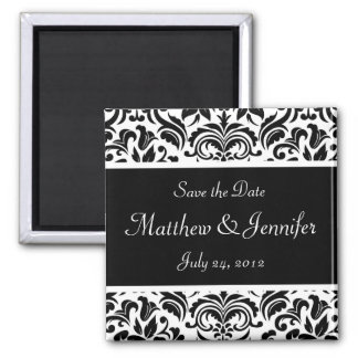 Wedding Announcement Save the Date Magnet - Square