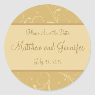 Wedding Announcement Save the Date Sticker
