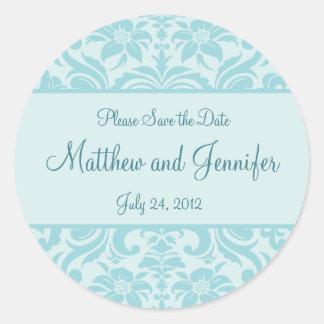 Wedding Announcement Save the Date Sticker Round Sticker