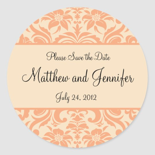 Wedding Announcement Save the Date Sticker