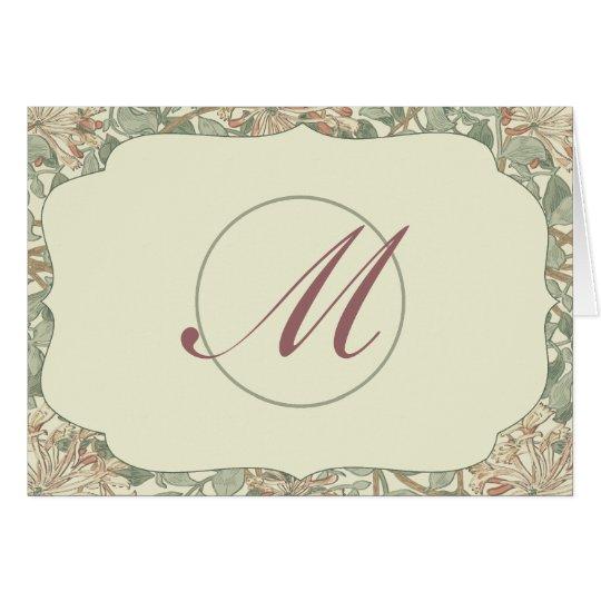 Wedding Antique Honeysuckle Card