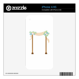 Wedding Arch Decals For iPhone 4S