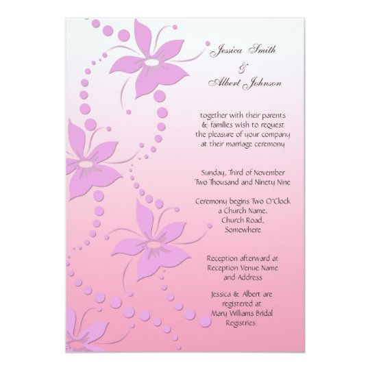 Wedding art flowers invitation