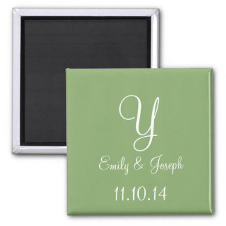 Wedding Asparagus Cute Monochromatic 2 Inch Square Magnet