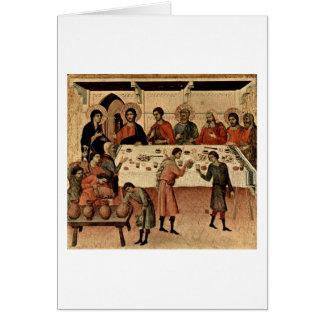 Wedding At Cana By Duccio Card