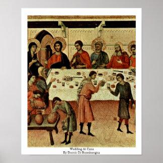 Wedding At Cana By Duccio Di Buoninsegna Poster