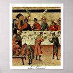 Wedding At Cana By Duccio Di Buoninsegna Posters