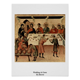 Wedding At Cana By Duccio Posters