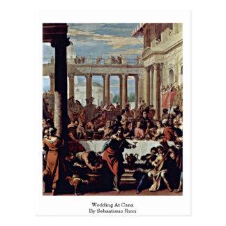 Wedding At Cana By Sebastiano Ricci Postcard