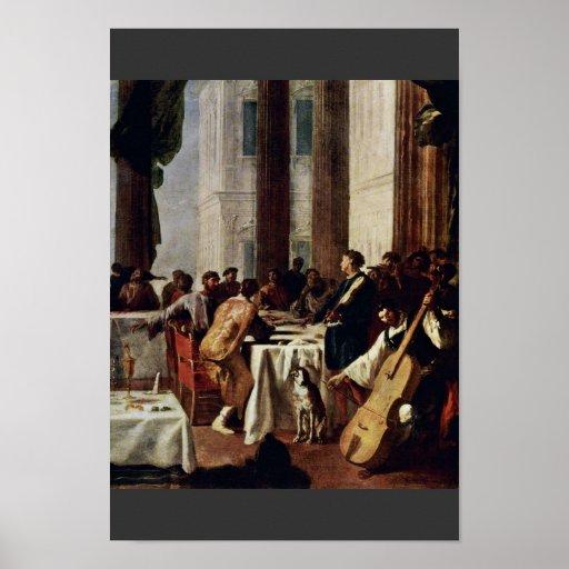 Wedding At Cana, Detail By Schönfeld Johann Heinri Poster