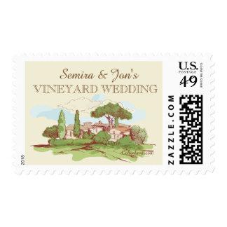 Wedding At The Vineyard Postage Stamp
