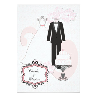 Wedding attire invitations announcements zazzle wedding attire customized 5x7 wedding invitation stopboris Image collections