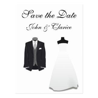 Wedding Attire Postcard