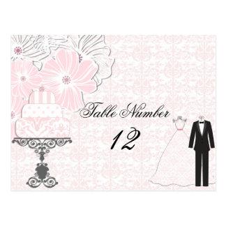 Wedding Attire Table Number Postcard