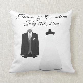 Wedding Attire Throw Pillow