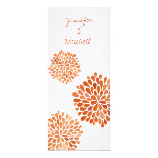 Wedding Autumn Fall Flower Blooms Invitation