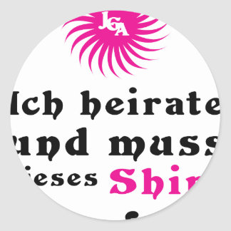 /wedding bachelor-separated classic round sticker