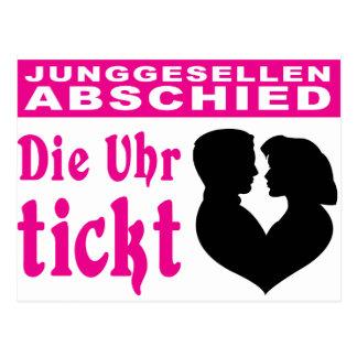 /wedding bachelor-separated postcard