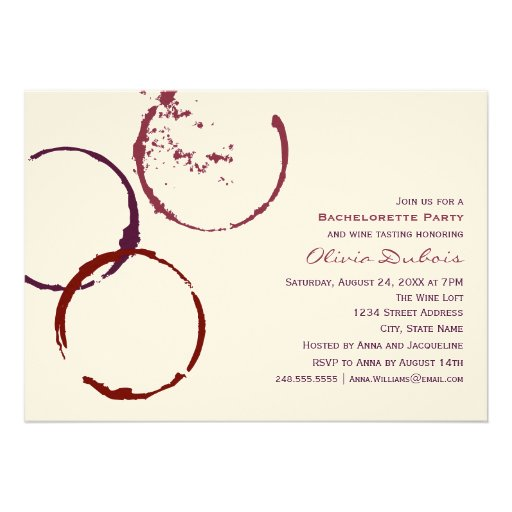 Wedding Bachelorette Party | Red Wine Theme Announcements